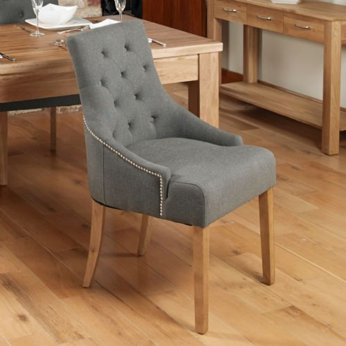 Pair of Accent Upholstered Dining Chairs